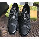tanie Męskie obuwie sportowe-Męskie Komfortowe buty Świńska skóra Jesień / Zima Adidasy Czarny