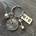 preiswerte Schlüsselanhänger Gastgeschenke-Sport Schlüsselanhänger Geschenke Chrom Schlüsselringe - 1pcs Ganzjährig