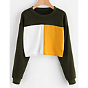cheap Men's Bracelets-Women's Street chic Sweatshirt - Color Block / Spring
