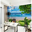 abordables Botellas de Agua-Vista de mar azul cielo azul vista de la pared que cubre mural papel tapiz ajuste dormitorio restaurante paisaje