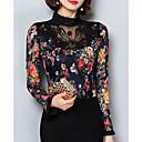 baratos Anéis-Mulheres Blusa Casual Floral