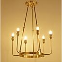 povoljno Flush Mount rasvjeta-ZHISHU 6-Light Svijeća stilu Lusteri Uplight Brass Metal Glass Crystal, Mini Style 110-120V / 220-240V Bulb not included / E12 / E14