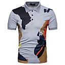 tanie Torby na ramię-Polo Męskie Podstawowy Bawełna Kołnierzyk koszuli Kolorowy blok / Krótki rękaw