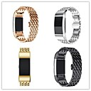 cheap Smartwatch Accessories-Watch Band for Fitbit Charge 2 Fitbit Butterfly Buckle Metal / Stainless Steel Wrist Strap