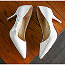 abordables Tacones de Mujer-Mujer PU Primavera / Otoño Confort / Pump Básico Tacones Tacón Stiletto Negro / Gris / Rojo