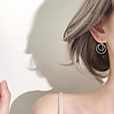 tanie Modne kolczyki-Kolczyki drop - Poskręcane koło Prosty, Koreański, Moda Srebrny Na Prezent Codzienny