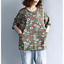 cheap Totes-women's t-shirt - floral round neck
