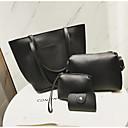 cheap Bag Sets-Women's Bags PU(Polyurethane) Bag Set 4 Pieces Purse Set Buttons / Zipper Blushing Pink / Gray / Brown