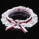 cheap Wedding Wraps-Polyester Contemporary / Wedding Wedding Garter 617 Rhinestone / Bowknot / Lace Garters Wedding / Party Evening