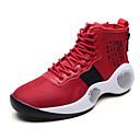 זול נעלי ספורט לגברים-בגדי ריקוד גברים נעלי נוחות PU סתיו נעלי אתלטיקה כדורסל שחור וכסף / אדום