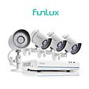 abordables Collares, Arneses y Correas para Perros-Funlux® 4ch 1080p hdmi nvr poe simplificado 4x 720p hd sistema de cámara de seguridad exterior / interior