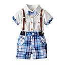 ieftine Pantaloni Băieți-Copii Băieți Mată Peteci Manșon scurt Set Îmbrăcăminte