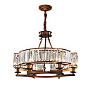 cheap Ceiling Lights-ZHISHU 6-Light Crystal Chandelier Ambient Light Painted Finishes Metal Crystal, Mini Style, Adjustable 110-120V / 220-240V Bulb Included