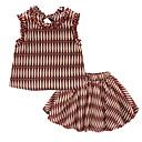 ieftine Topuri Fete-Copil Fete Activ Geometric Fără manșon Set Îmbrăcăminte