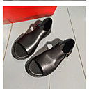 abordables Sandalias de Hombre-Hombre Cuero Verano Confort Sandalias Negro