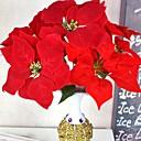 baratos Plantas Artificiais-Flores artificiais 1 Ramo Tradicional / Clássico Poinsétia Flor de Mesa