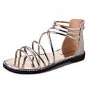 זול מגפי נשים-בגדי ריקוד נשים נעליים סינטתי קיץ גלדיאטור / בלרינה בייסיק סנדלים שטוח זהב / שחור / כסף / מסיבה וערב