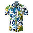 cheap Racks & Holders-Men's Basic Shirt - Geometric Color Block Print
