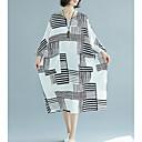 זול שרשרת אופנתית-מידי פסים - שמלה ישרה בגדי ריקוד נשים