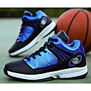 זול נעלי ספורט לגברים-בגדי ריקוד גברים PU סתיו נוחות נעלי אתלטיקה כדורסל לבן / אדום / שחור / כחול