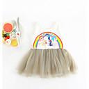 ieftine Set Îmbrăcăminte Bebeluși-Bebelus Fete De Bază Imprimeu Fără manșon Bumbac Rochie / Copil