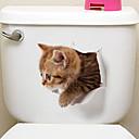 tanie Ręcznik plażowy-Naklejki toaleta - Naklejki naścienne ze zwierzętami Zwierzęta / 3D Salon / Sypialnia / Łazienka