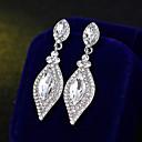 billiga Halsband-Dam Dropp Örhängen Enkel Europeisk Mode örhängen Smycken Silver Till Bröllop Dagligen