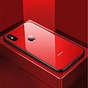 זול מגנים לטלפון & מגני מסך-מגן עבור Apple iPhone X / iPhone 8 עמיד בזעזועים / מראה כיסוי אחורי אחיד קשיח זכוכית משוריינת ל iPhone X / iPhone 8 Plus / iPhone 8