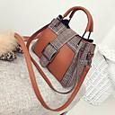 cheap Totes-Women's Bags PU Tote Zipper Black / Gray / Brown