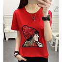 halpa Muotirannekorut-Naisten Geometrinen Perus T-paita