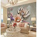 preiswerte Wand-Sticker-benutzerdefinierte geprägte rosa lotus große wandverkleidung wandbild tapete geeignet für büro schlafzimmer restaurant landschaft