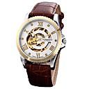 preiswerte Mechanische Uhren-Herrn Kleideruhr Japanisch Chronograph Echtes Leder Band Kreativ / Modisch Braun / Edelstahl / Automatikaufzug