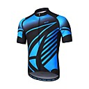 cheap Cycling Pants, Shorts, Tights-Arsuxeo Men's Short Sleeve Cycling Jersey - Blue Bike Jersey, Reflective Strips, Sweat-wicking
