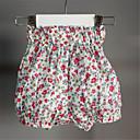 ieftine Pantaloni Bebeluși-Bebelus Fete De Bază Floral Poliester Pantaloni Roșu-aprins 100 / Copil