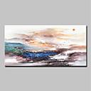 billige Abstrakte malerier-Hang malte oljemaleri Håndmalte - Abstrakt / Landskap Klassisk / Moderne Inkluder indre ramme / Stretched Canvas