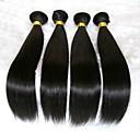 tanie Dopinki w naturalnych kolorach-4 zestawy Włosy brazylijskie Prosta Włosy naturalne Pakiet One Solution Kolor naturalny Ludzkie włosy wyplata Rozbudowa / Gorąca wyprzedaż Ludzkich włosów rozszerzeniach Wszystko
