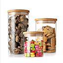 זול צנצנות ותיבות-ארגון המטבח שימור וקונסרבציה זכוכית אחסון / גוף שקוף / מקסים 3pcs