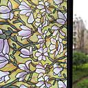 abordables Stickers de Ventana-Ventana de película y pegatinas Decoración Mate Floral CLORURO DE POLIVINILO Adhesivo para Ventana Mate