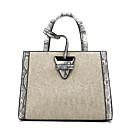 cheap Totes-Women's Bags leatherette / PU(Polyurethane) Tote Zipper Black / Brown / Light Grey