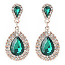 cheap Wedding Wraps-Women's Drop Earrings - Statement, Vintage, Ethnic White / Green / Blue For Evening Party Date