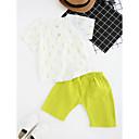 זול חולצות לבנים-סט של בגדים כותנה קיץ שרוולים קצרים יומי דפוס בנים פשוט אפור צהוב