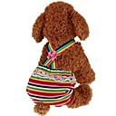 baratos Camas & Cobertores para Cães-Cachorros / Gatos / Animais de Estimação Macacão Roupas para Cães Riscas / Princesa Vermelho Tecido Alcochoado Ocasiões Especiais Para