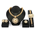 cheap Brooches-Women's Jewelry Set - Floral / Botanicals, Flower Fashion, Oversized Include Gold For Party / Going out