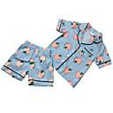 povoljno Kompletići za djevojčice-Dijete koje je tek prohodalo Djevojčice Aktivan Voće Kratkih rukava Komplet odjeće