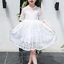 tanie Sukienki dla dziewczynek-Dzieci Dla dziewczynek Aktywny Święto Geometric Shape Koronka / Nadruk Krótki rękaw Do kolan Sukienka / Bawełna