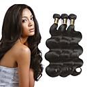 povoljno Perike s ljudskom kosom-3 paketa Peruanska kosa Wavy Netretirana  ljudske kose 100% Remy kose tkanja Bundle Crna Prirodna boja Isprepliće ljudske kose proširenje Najbolja kvaliteta Za crnkinje Proširenja ljudske kose / 8A