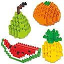 tanie Building Blocks-Klocki 4 pcs Kreskówki Owoc Zwierzęta Dla chłopców Dla dziewczynek Zabawki Prezent