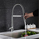 cheap Kitchen Faucets-Kitchen faucet - Country Chrome Pull-out / Pull-down Centerset