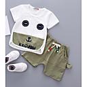 ieftine Baby Boys' One-Piece-Bebelus Băieți Imprimeu / Peteci Manșon scurt Set Îmbrăcăminte