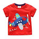 povoljno Majice za dječake-Djeca / Dijete koje je tek prohodalo Dječaci Aktivan / Osnovni Dnevno / Sport Blue & White Kolaž Kolaž / Vezeno Kratkih rukava Regularna Pamuk Majica s kratkim rukavima Red 100